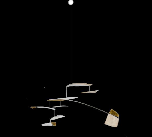 Mobilé-Unikat, Modernes Design-Mobilé aus Papier, Papierkunst