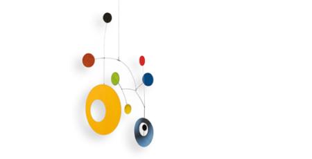 Design-Mobilé MORI, farbenfroh und modern, schöne Dekoration zum Aufhängen