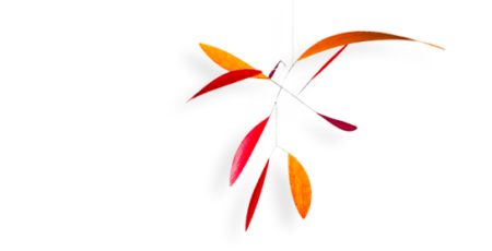 Mobilé Red Leaf - Raumobjekt für Erwachsene, Dekoration für große Räume/Treppenhäuser