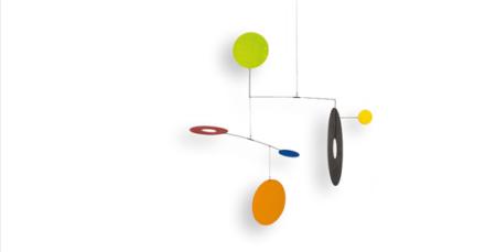 Farbenfrohes Mobilé TRIO aus geometrischen Formen, Mobilé für Erwachesene