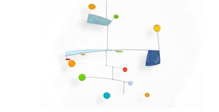 Buntes Mobilé Trolli (hellblau, blau, bunt) für Kinder. Dekoration zum Aufhängen, Kinderzimmer