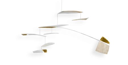 XXL Mobilé Ronja, blattvergoldet, für große Räume, Dekoration für Treppenhäuser und Wohnzimmer