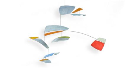 XXL Mobilé Ronja, bunt, für große Räume, Dekoration für Treppenhäuser und Wohnzimmer