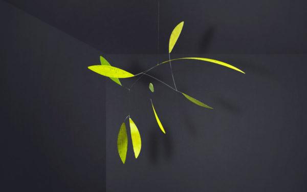 Mobilé Green Leaf - Raumobjekt für Erwachsene, Dekoration für große Räume/Treppenhäuser