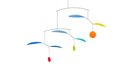 Mobilé Wipp - Leichtes Mobilé, Papierkunst, Mobilé-Art zum Aufhängen für Wohn- und Kinderzimmer