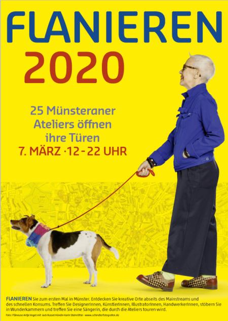 Flanieren 2020 – 7. März, 12-22 Uhr –zu Gast bei Melanie Laukamp - Plakat