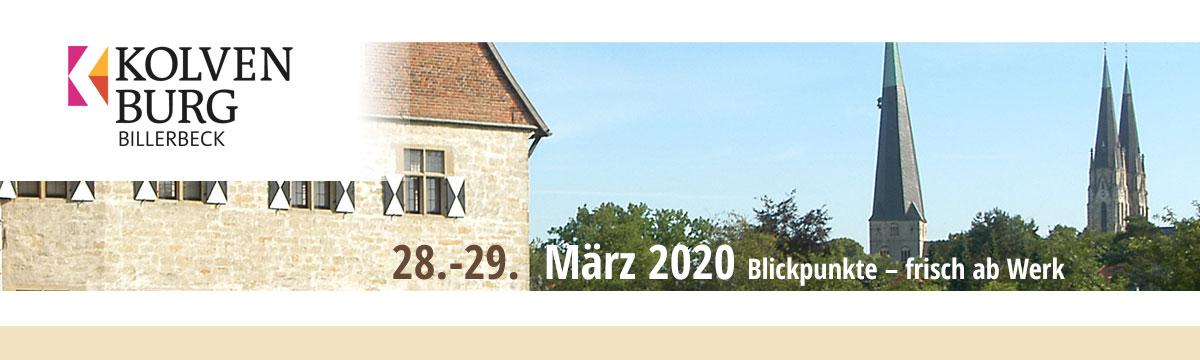 Zu Gast in der Kolvenburg, Billerbeck, 28.-29.03.2020 - Blickpunkte - frisch ab Werk