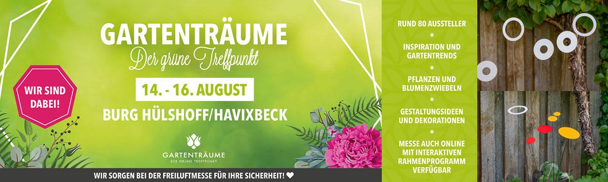 Gartenträume Burg Hülshoff –14.-16. August 2020